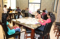 GPS President, Ann Wood, conducting a Philatelic Workshop in Georgetown