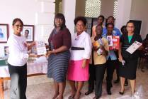 GPS donating Philatelic books to the National Library of Guyana